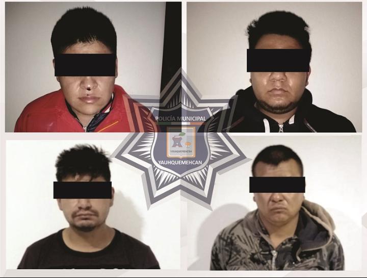 Detiene policia de Yauhquemehcan a presuntos ladrones