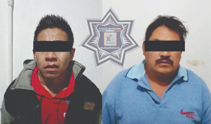 Detiene policía de Yauhquemehcan a ladrones de lámparas de la Carretera Ocotoxco