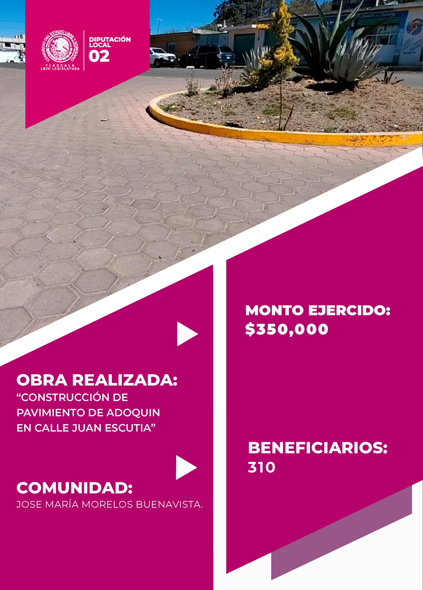 Con recursos del Fondo de Resarcimiento a las Finanzas Municipales se adoquinaron calles en Tlaxco