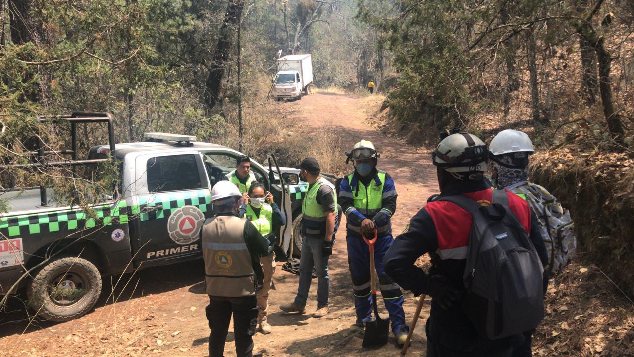ACTIVA CEPC SISTEMA DE COMANDO DE INCIDENTES ANTE  INCENDIOS FORESTALES EN TERRENATE Y TLAXCO