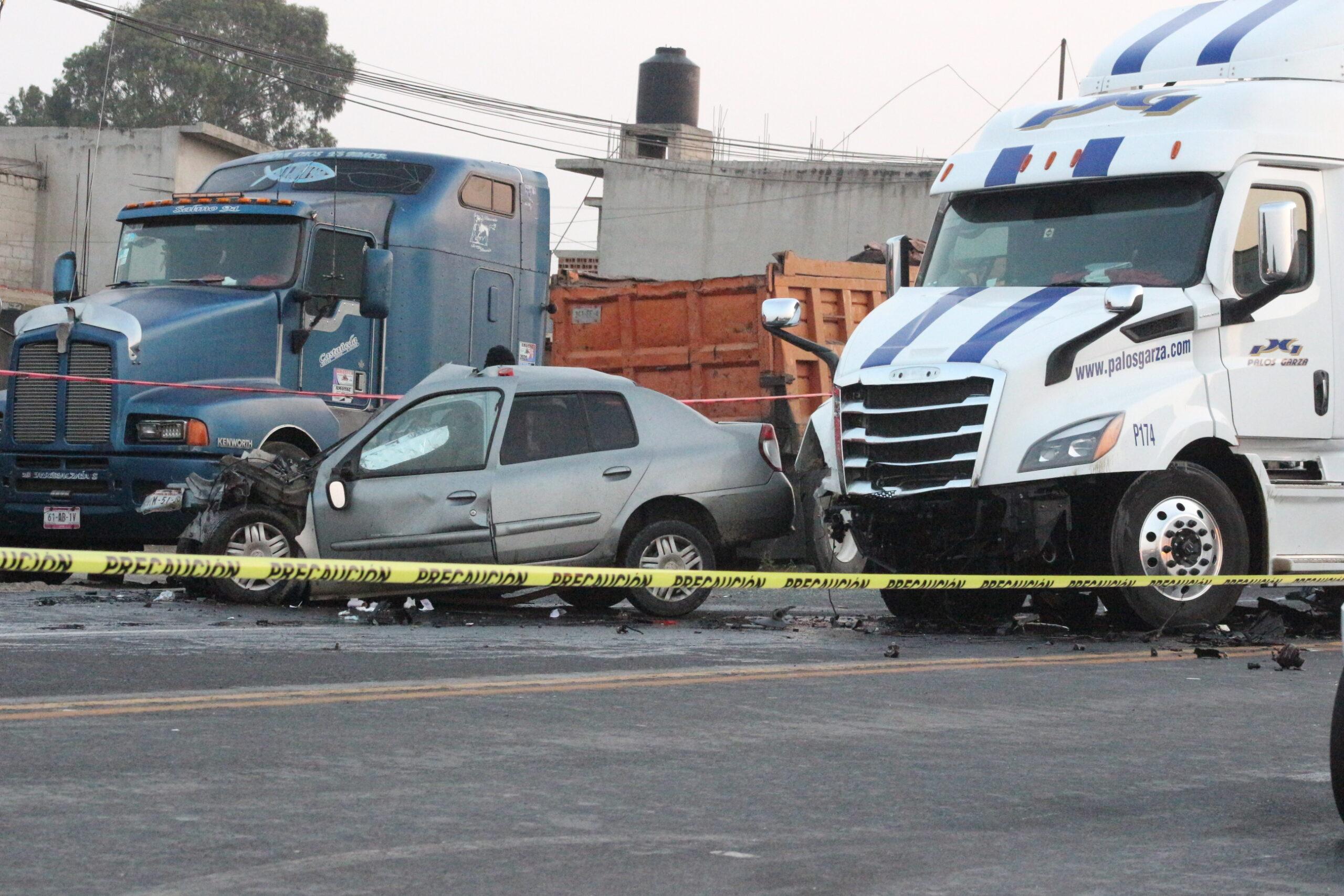Una muerta deja choque frontal en la Apizaco-Tlaxco