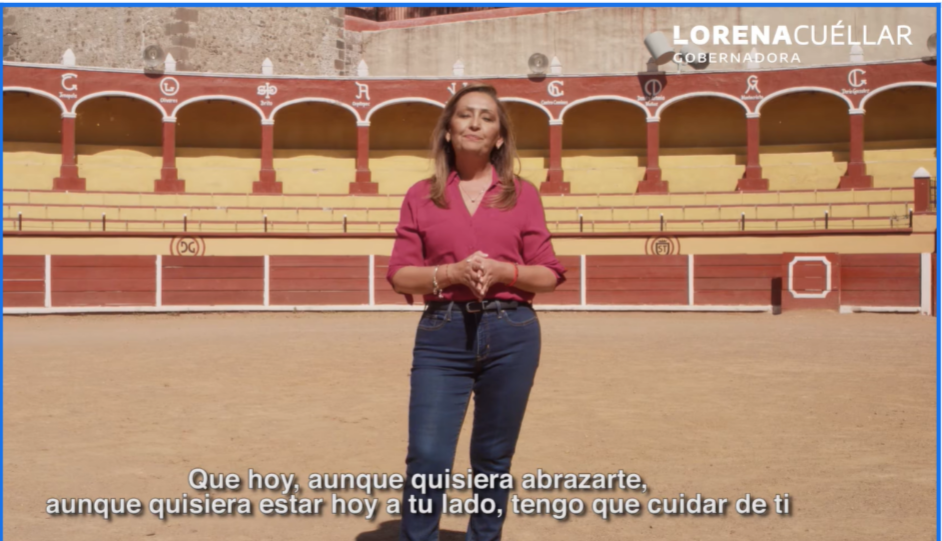 Lorena Cuéllar inicia su campaña a través de un video mensaje en redes sociales