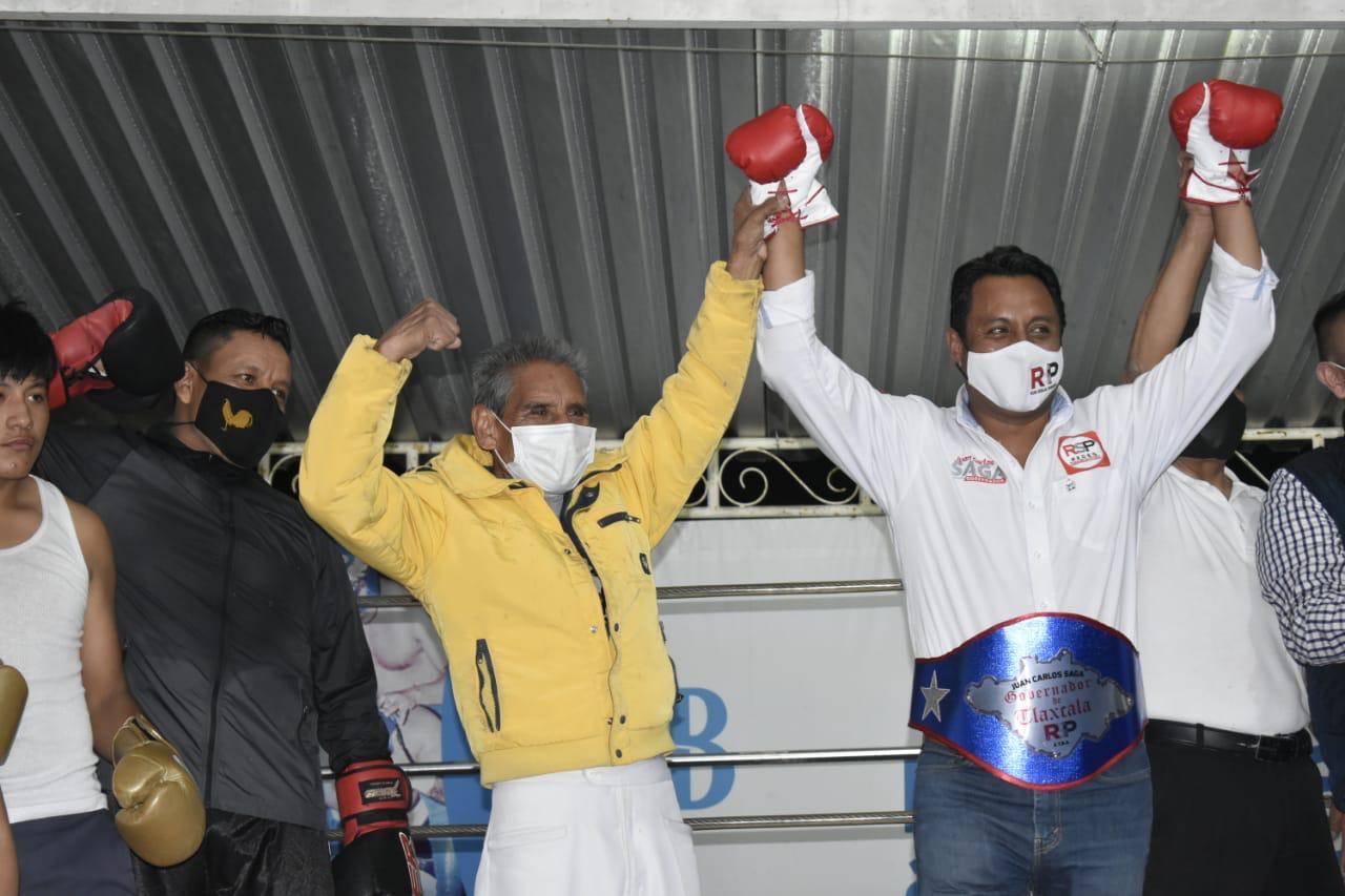 Ofrece SAGA impulsar el boxeo en Tlaxcala