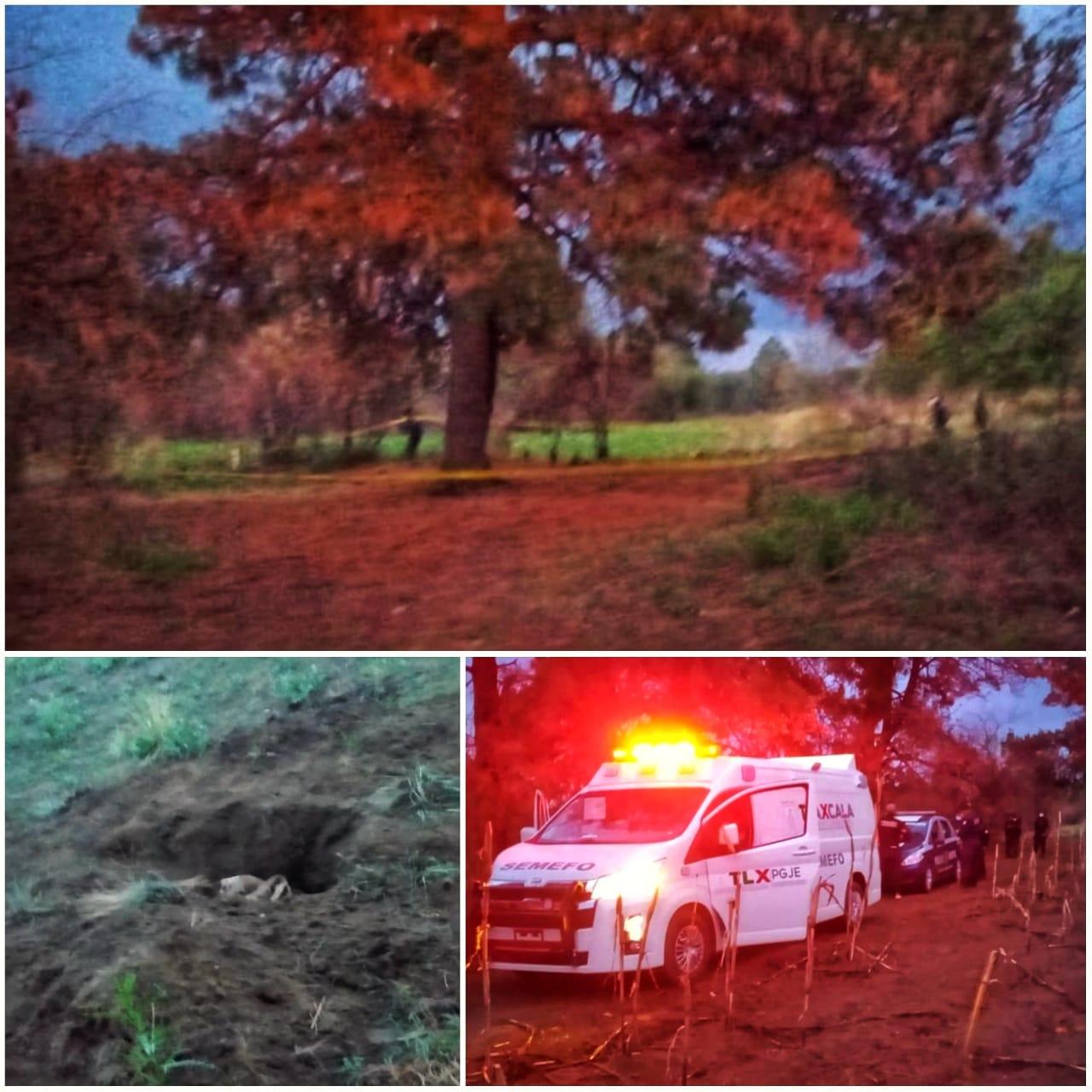 Hallan semi enterrado cadáver de mujer en Contla