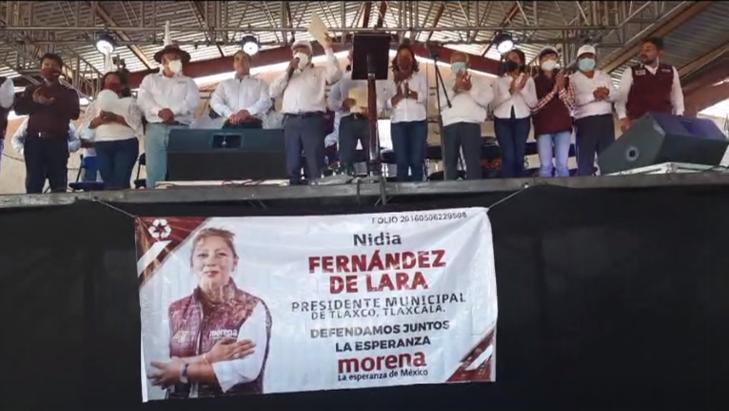 Desangelado cierre de campaña de Nidia Fernández en Tlaxco