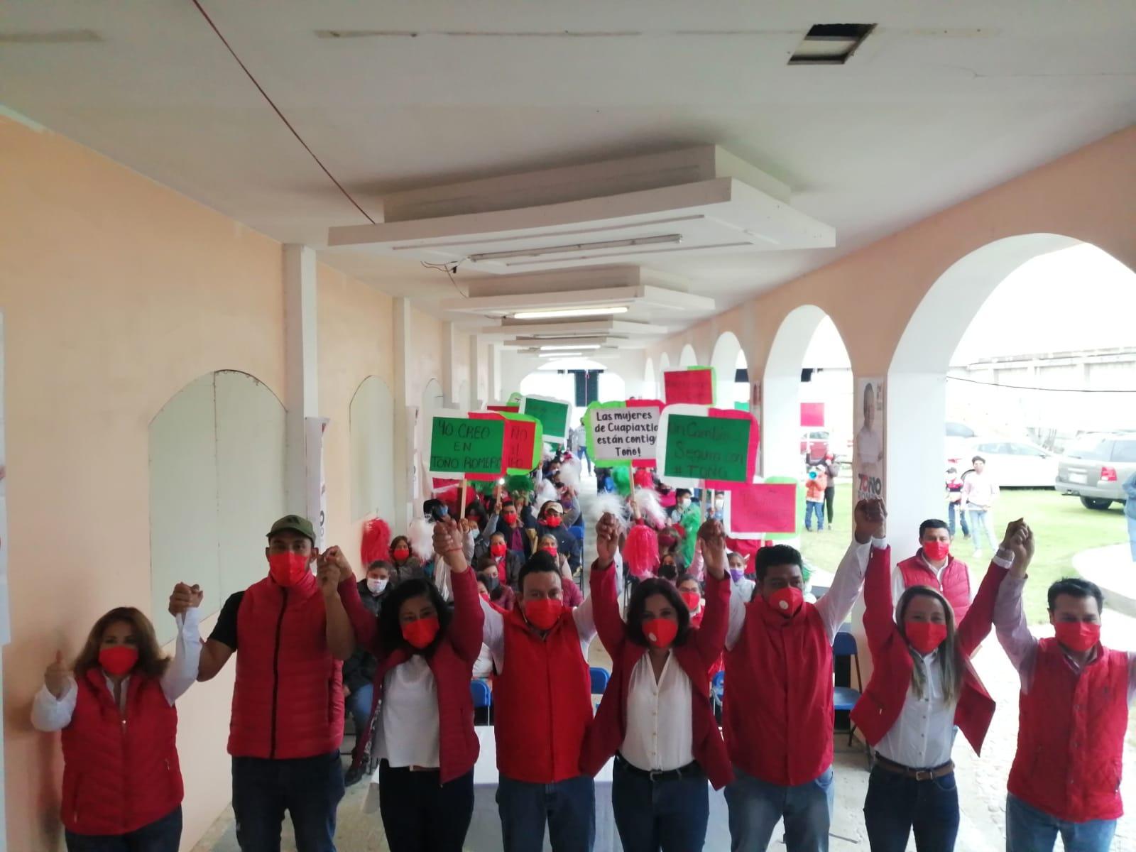 Toño Romero anuncia ocho ejes rectores en el inicio de su campaña a la presidencia de Cuapiaxtla