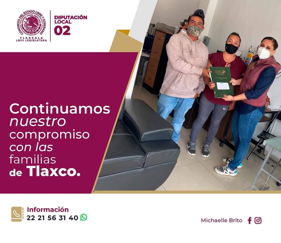 MICHAELLE BRITO CONTINÚA CON LA ENTREGA DE ESCRITURAS A CIUDADANOS DE TLAXCO