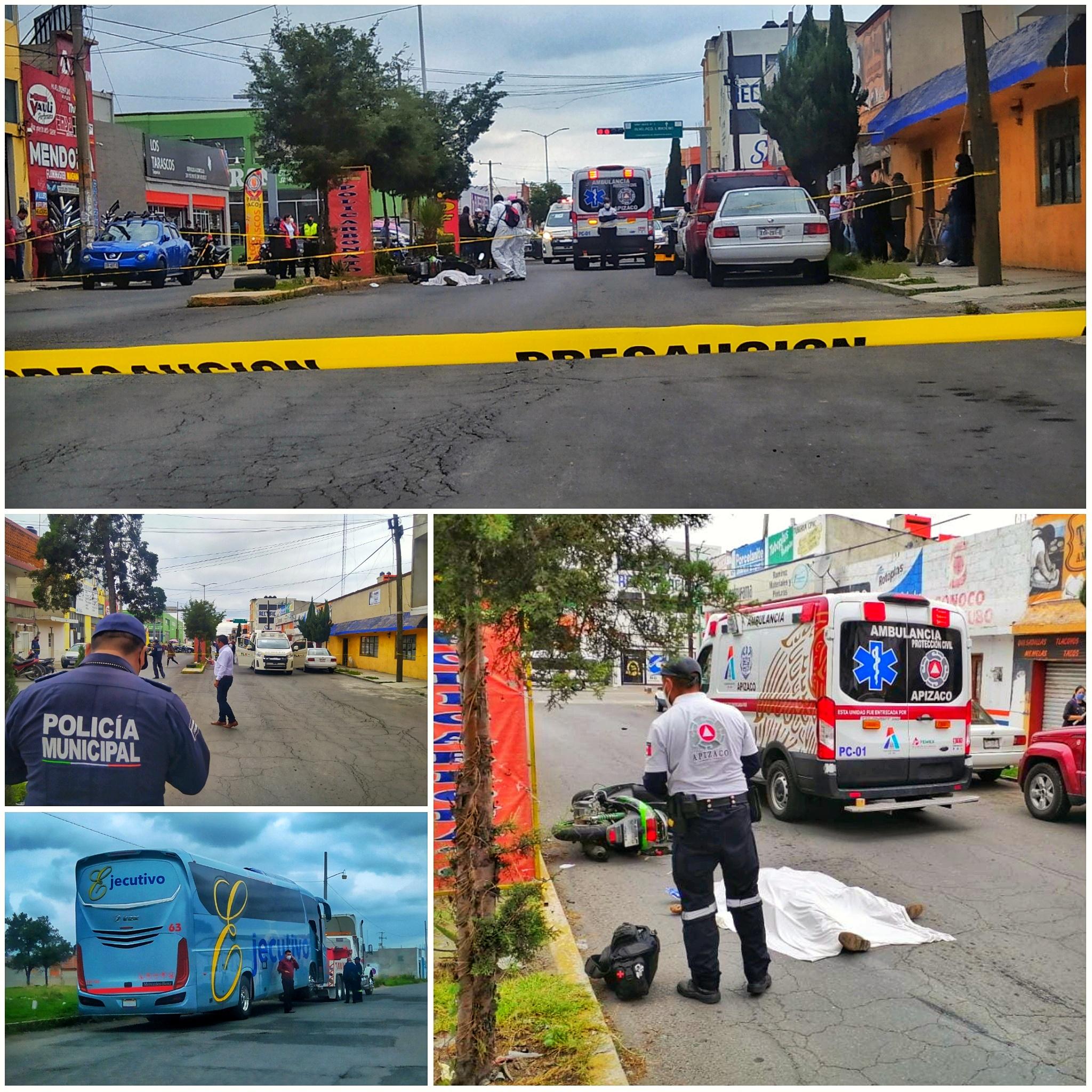Muere motociclista por atropellamiento en Apizaco