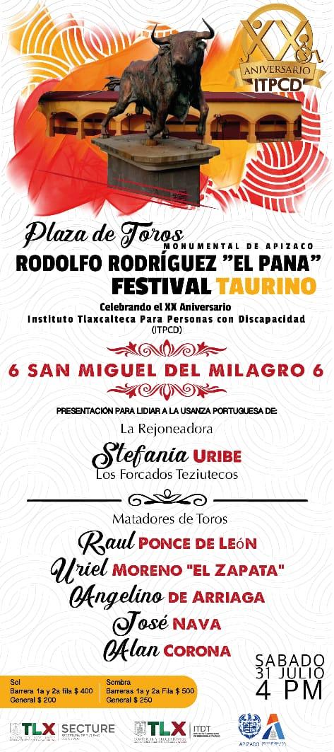 PRESENTAN EL CARTEL DEL FESTIVAL DEL DIA 31 DE JULIO EN APIZACO
