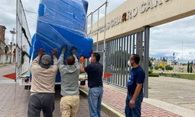 Entrega apoyos ayuntamiento de Tlaxcala