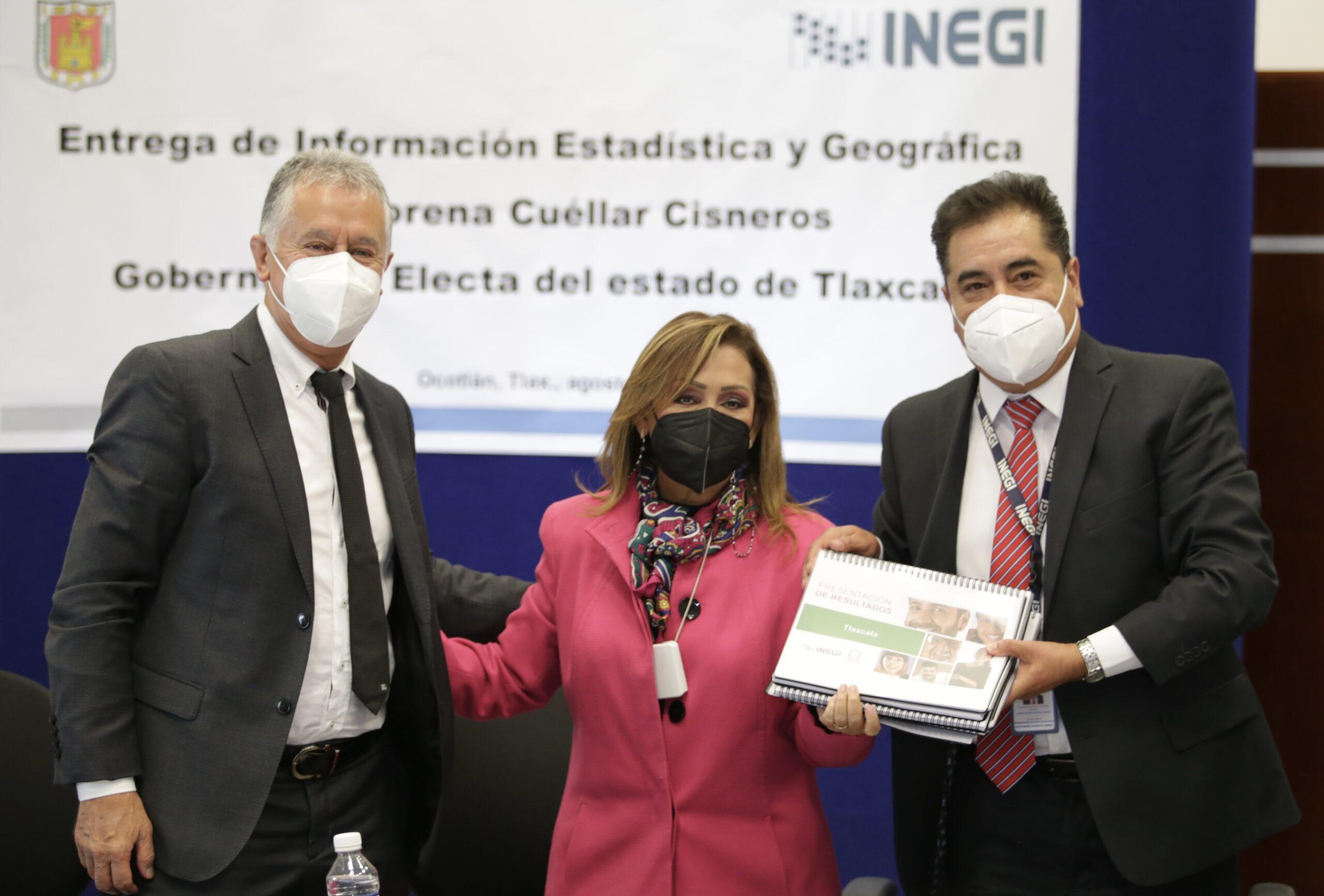 gobernadora electa e Inegi
