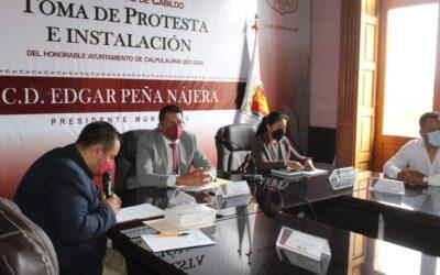 Realiza Primera Sesión de Cabildo el H. Ayuntamiento de Calpulalpan.