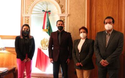 Recibe presidente del TSJE a Comisión de Cortesía del Congreso Local
