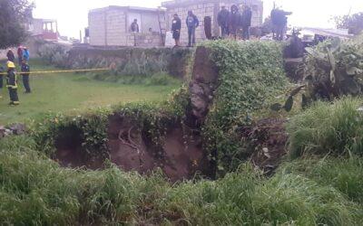 Aparece socavón de 10 metros de diámetro en comunidad de Morelos