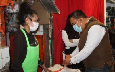 Apercibió Ayuntamiento de Tlaxcala a comerciantes que reincidieron en invasión de espacios en el mercado municipal