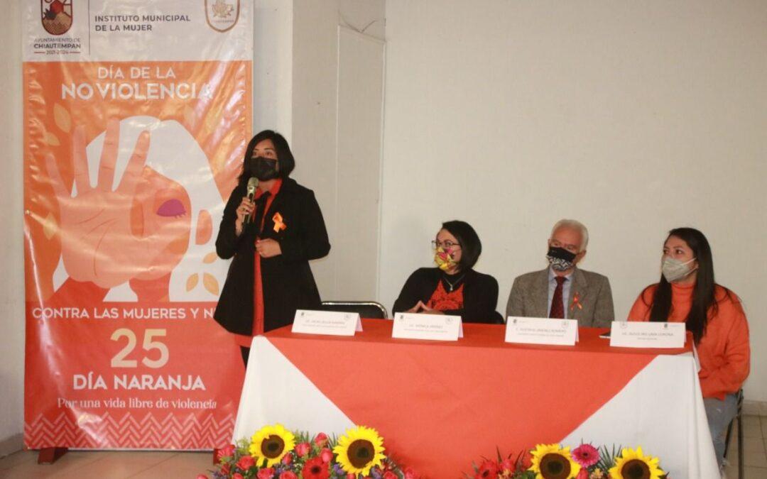 Realiza Chiautempan conferencia para erradicar la violencia contra las mujeres