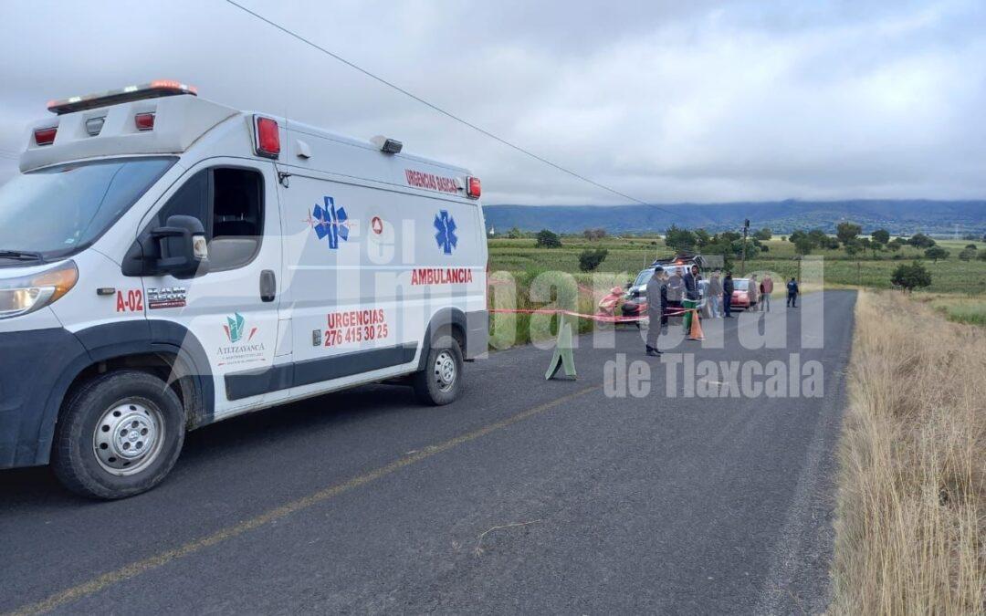 Muere atropellado un hombre está mañana en Atltzayanca