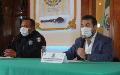 Anuncia presidente municipal de Huamantla operativos para retiro de comercio informal.