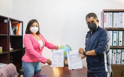 Fomentan deporte y voluntariado en Apizaco; firman convenio IMJuventud y dirección del Deporte
