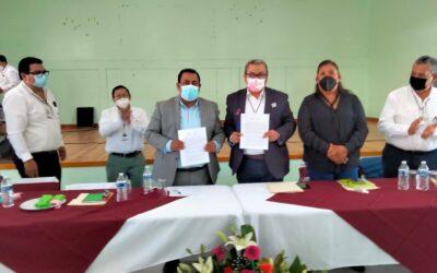 Firman convenio de colaboración ayuntamiento de Atltzayanca y SEPE