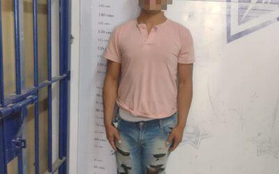 Detiene Policía de Apizaco a sujeto con arma de fuego; le fueron encontrados 58 cartuchos útiles