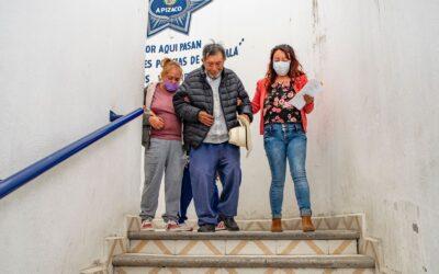 Gobierno de Apizaco localiza a familiares de octagenario extraviado en Apizaco