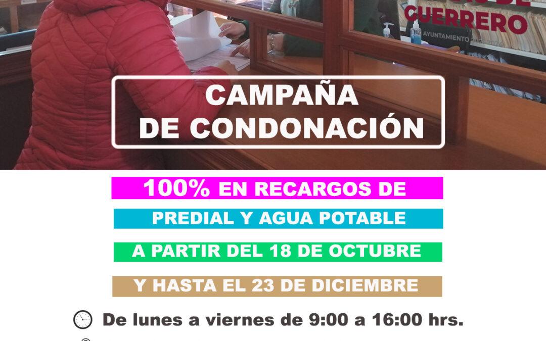 En Amaxac, condonación de multas y recargos de hasta 100% en pago de predial y agua potable.