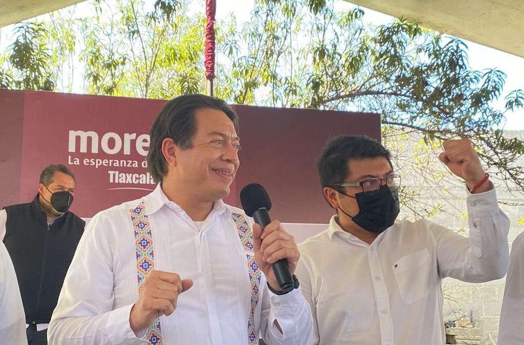 Toma protesta  Mario Delgado a Comités  de defensa de la 4T en Tlaxcala.