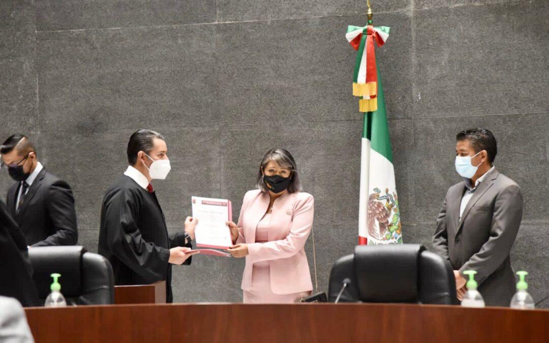 Toma protesta Jueza Municipal capitalina, Minerva Mitre ante el Poder Judicial del Estado de Tlaxcala