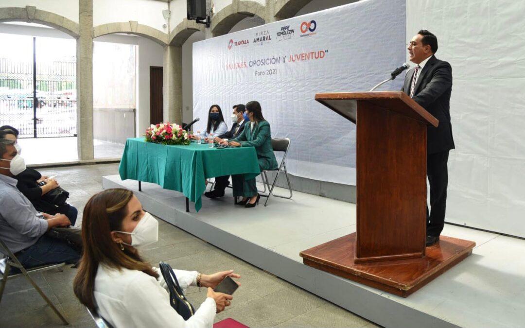 """Participa Jorge Corichi en la inauguración del Foro """"Mujeres, oposición y juventud 2021"""""""