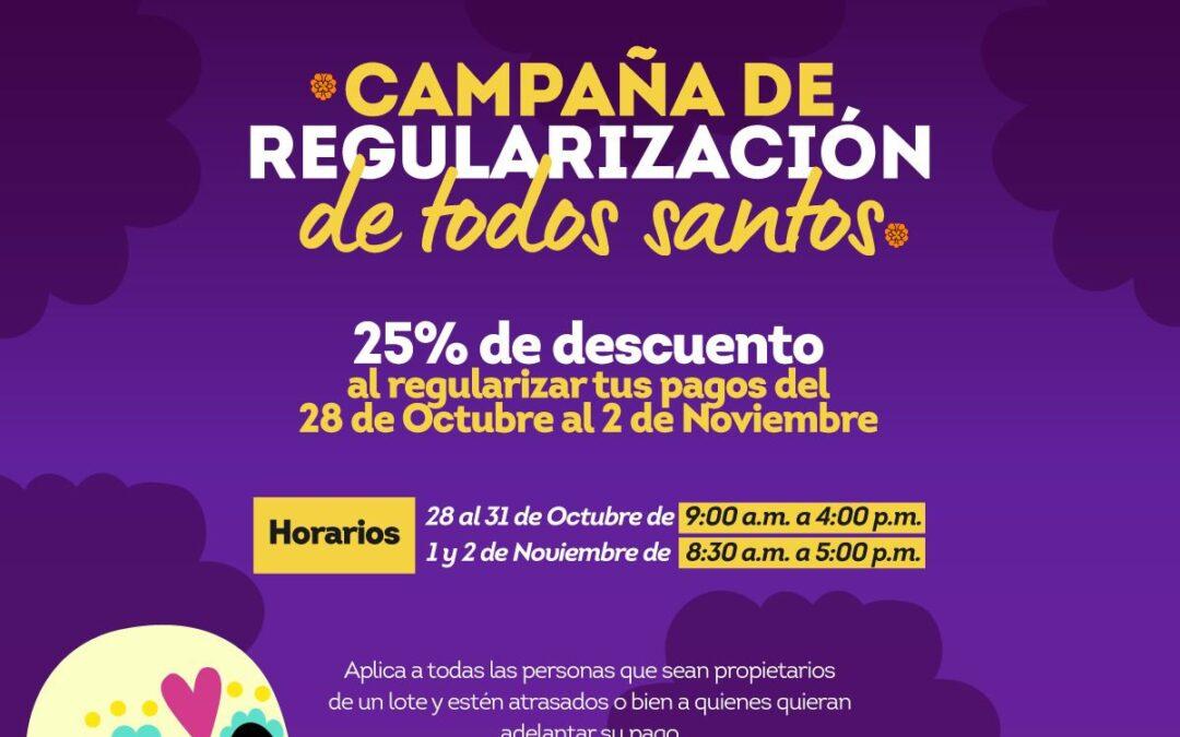 """Anuncia Gobierno de Apizaco Campaña de Regularización de """"Todos lo Santos"""""""
