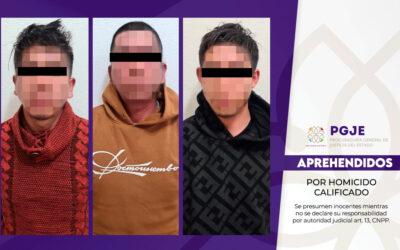 OBTIENE PGJE VINCULACIÓN A PROCESO CONTRA TRES IMPUTADOS POR HOMICIDIO CALIFICADO