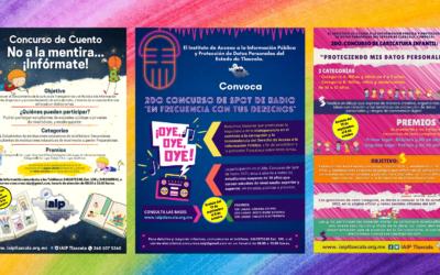 IAIP convoca a sociedad tlaxcalteca a participar en concursos de spot de radio, cuento y caricatura.